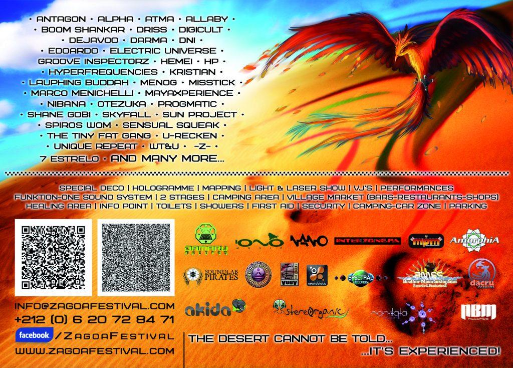 Flyer - Zagoa Festival 2014 (back)