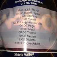 shiva valley timetable goa india trancers guide