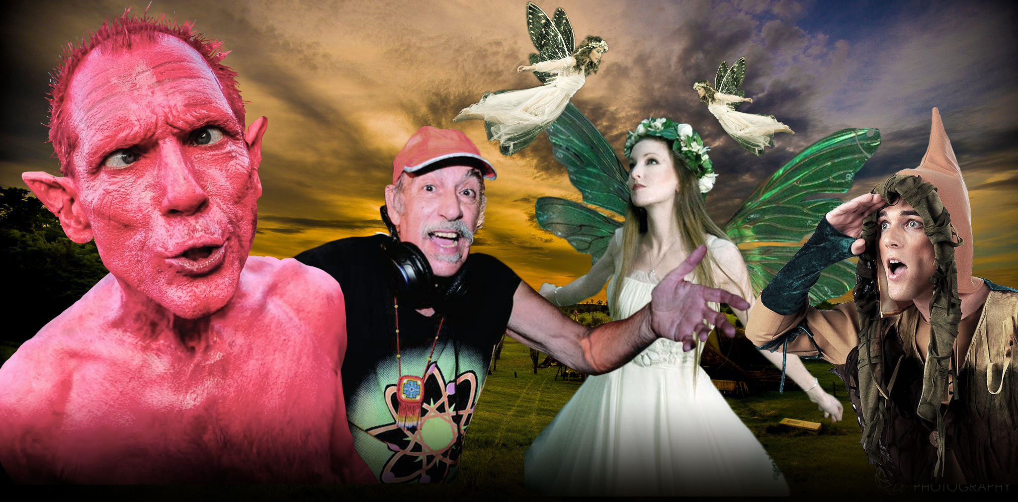 Ozora Festival - Mr Pink and Raja Ram with fairys and elfs