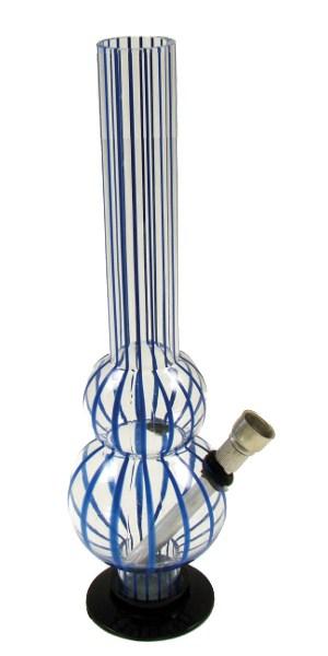26cm-Acryl-Kugelbong-mit-blauen-Linien