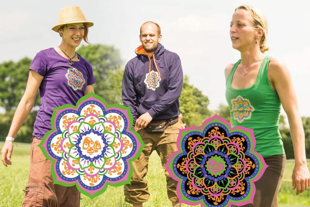 mushroom magazine mandala tshirt hoodie top auf der traumwelten open air bei lübeck bunt