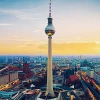 tv tower berlin city