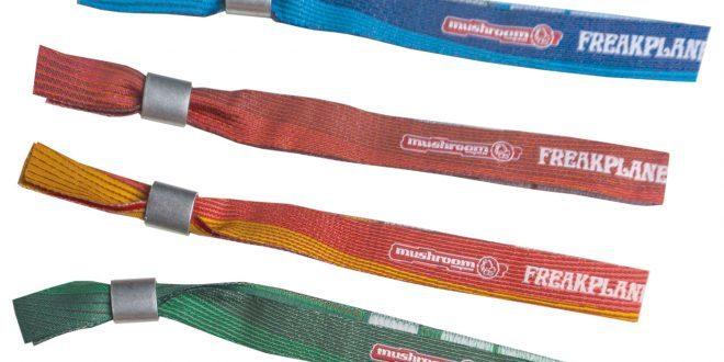 mushroom freakplanet bändchen blau rot orange grün stoffarmband