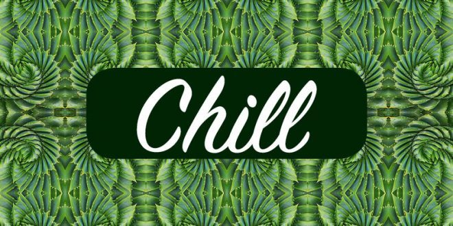 psychedelic chillout music chill green logo
