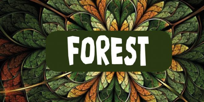 forest music logo green leaves